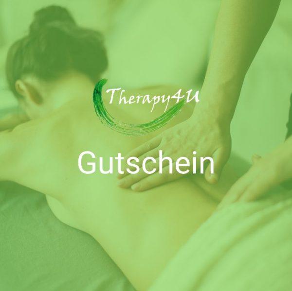 Massage Gutschein online bestellen im Therapy4U Shop